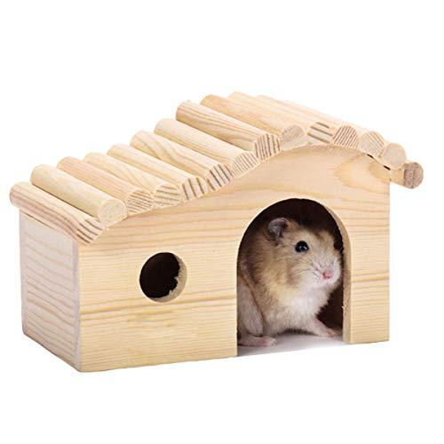 Syuantech Casa Ad Arco per Criceti Casetta in Legno per Piccoli Animali Casetta per Criceti