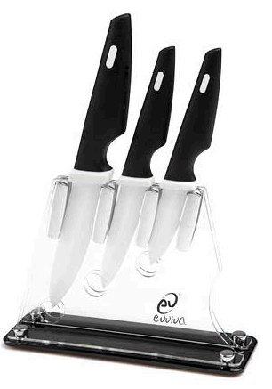 Ceppo coltelli set 3 pezzi in ceramica