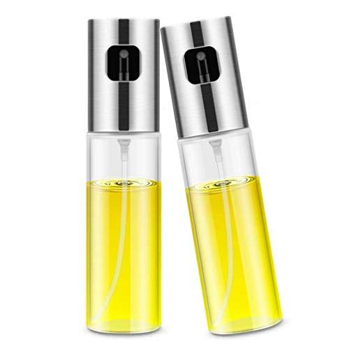 jky Olie-sprayer 2 stuks roestvrij staal glas in levensmiddelenkwaliteit oliedispenser oliefilter olijfolie fles voor BBQ brood grillen