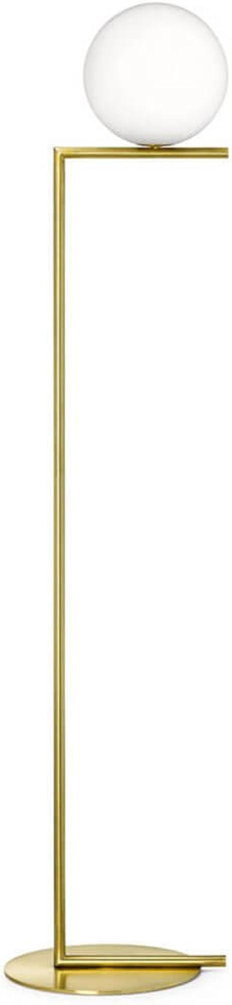Flos ic f1 lampada  da terra a luce diffusa. telaio in ottone, spazzolato e verniciato trasparente. F3173059