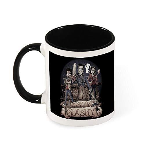 Ashy Slashy Ash Vs Evil Dead taza de té de cerámica, regalo para mujeres, niñas, esposa, mamá, abuela, 11 oz