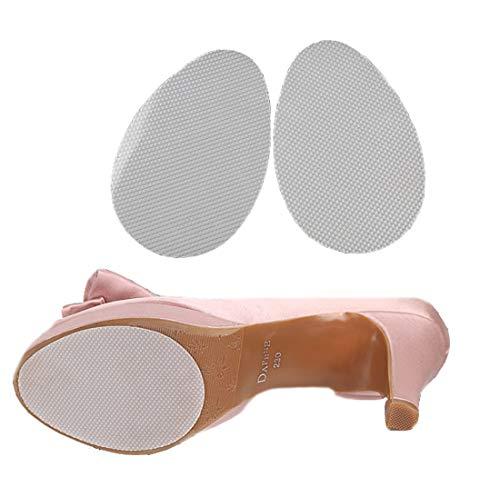 Ewanda store 5 Pairs Anti Slip Non Skid Shoe Pads Shoes Grip Rubber Adhesive Sole Protector Grips Nonslip Cushion Stickers(Clear Rhombus Shape)