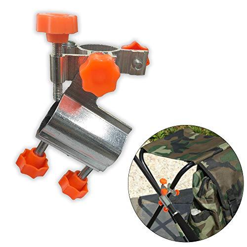 Fishing Rod Rack,Fishing Rod Holder,Durable Aluminum Alloy Fishing Rod Pole Holder Chair Clamp Bracket Tackle Universal