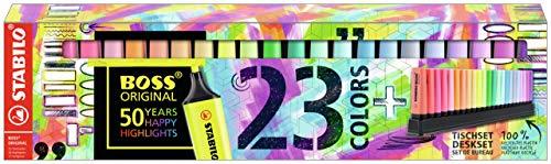 Edizione 100/% PASTEL 10 evidenziatori STABILO BOSS ORIGINAL Pastel Desk-Set Evidenziatore