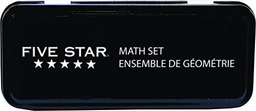 Five Star 61001 Math Set, Including Compass and Protractor, 10-Piece