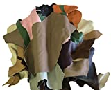 Stonestreet Leather, 5 Pounds Upholstery Leather Scrap, Cowhide Leather Fabric, Faux Leather Sheets for...