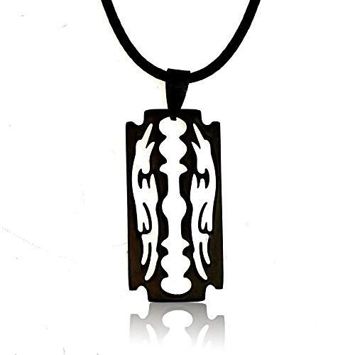 zyh1229 Modieuze hanger halsketting persoonlijkheid scheermes hanger mannen en vrouwen kleding decoraties