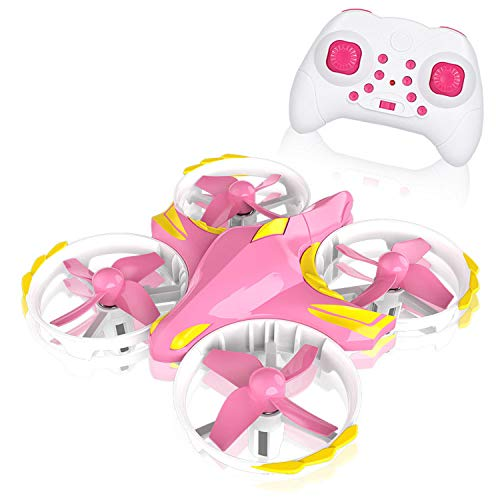 Mini Drones for Kids, Multiple Remote Controls-Hand Operated RC Quadcopter, G-Sensor Mode, 3D Flips, Altitude Hold, Headless Mode, with flashing LED, pink