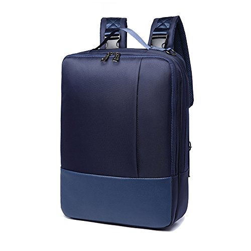 YAOHU, zaino per laptop con scomparto di dimensioni fino a 39,6cm, in nylon impermeabile leggero. Borsa a tracolla per lavoro, scuola, da viaggio Blu Blau 41x30x10cm