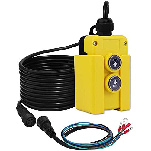Dump Trailer Remote Control Switch 12V 4 Wire fits Double Acting Hydraulic Power Unit Hydraulic Pump Dump Trailer Truck Tipper