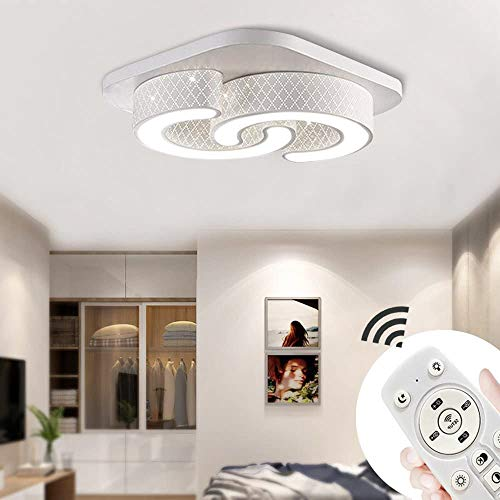 MIWOOHO 64W LED Deckenleuchte Modern Kreative Deckenlampe C-förmige Markantes Design Energiesparlampe Leuchte Dimmbar(3000K-6500K) +Fernbedienung [Energieklasse A++]