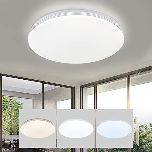 ZBL Lamparas De Techo LED De Tres Colores De Temperatura para Comedor Sala De Estar Dormitorio Oficina Modernas Plafones De Techo (Tamaño : 40cm)
