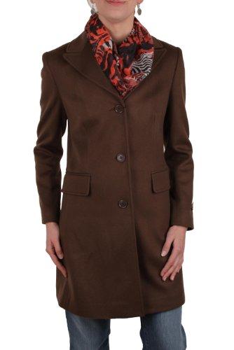 Verri Milano Damen Mantel 100 % KASCHMIR schwarz Gr. 40; 44 (42, Braun)