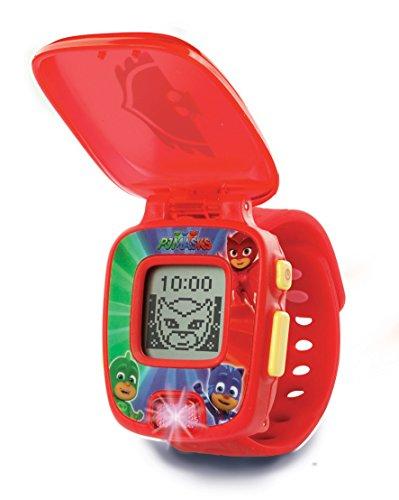 VTech-80-175857 PJ Masks Buhita, Reloj Digital Educativo Que estimula el Aprendizaje e incorpora minijuegos y Actividades, Color Rojo (3480-175857)
