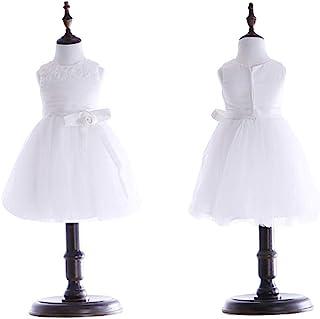 DEBLE 子供ドレスガールズドレス 女の子ドレス ワンピース フォーマル ピアノ 発表会 結婚式 演奏会 パーディー 入園式レースチュールホワイト