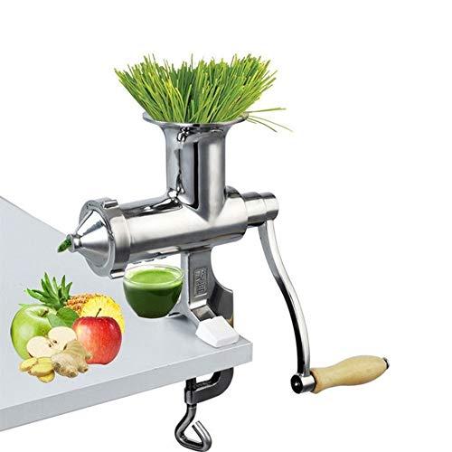 ZJH Hand Edelstahl Quecke Juicer-Handbuch Auger Langsam Squeezer Obst Weizen Gras Gemüse Orangensaft Press Extractor