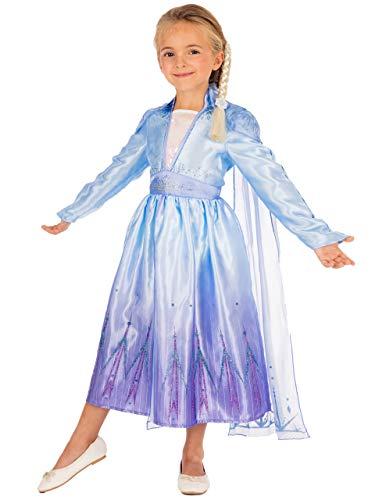 Disney Disfraz Vestido para Nias Frozen Azul 7-8 aos