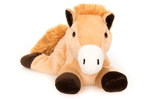 Habibi Plush Classic – 1620 Pony mit Hirsekörnerfüllung, Wärmestofftier zum Erwärmen in der Mikrowelle/Backofen