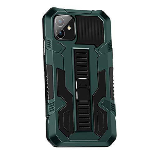 MOONCASE Funda para iPhone 11 6.1', Estuche Protectora Resistente y Delgada a Prueba de Golpes con Soporte [Grado Militar] Carcasa Protectora de Doble Capa Caso -Verde
