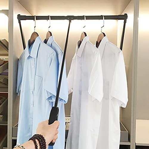 Klädställ Garderob Lyftbar Rail, Dra ner Skåpstångsutrymme Spara, Retractable Garderob Lyfthängare Mjuk retur, viktkapacitet 20kg (Size : 650-850mm/25.6-33.5inch)