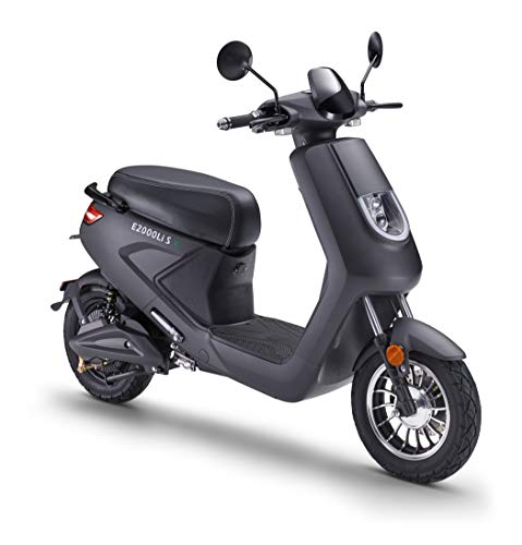 Elektroroller LuXXon E2000LI S - Elektro Scooter mit 950 Watt Bosch Motor, max. 25 km/h, Reichweite bis zu 66 km
