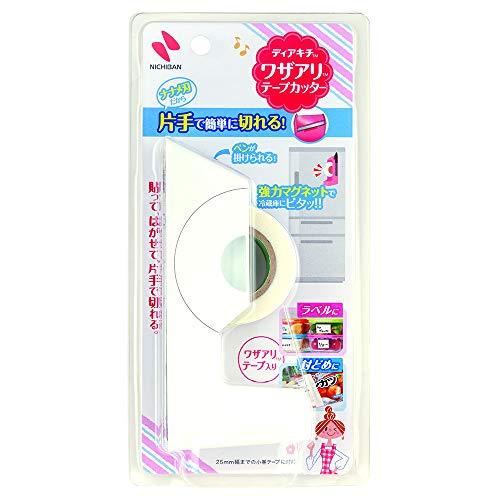 ニチバン テープカッター ホワイト W12×D3×H5.5cm ディアキチ ワザアリ DK-TC5