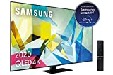 Samsung QLED 2020 49Q80T - Smart TV de 49' 4K UHD, Direct Full Array HDR 1000, Inteligencia Artificial, HDR 10+, Ambient Mode+, One Remote Control y Asistentes de Voz Integrados, con Alexa integrada