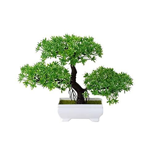 Plantas artificiales Plantas artificiales Pine Bonsai Pequeño árbol Pot Sup Plants Flowers Flowers Potted Ornaments para Decoración del Hogar Hotel Jardín Decoración Plantas Flores artificiales hierba