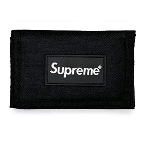Fünfte Straße Unisex Geldbeutel mit Umhängeband Münzbörse Geldbeutel Wallet Purse (Black)