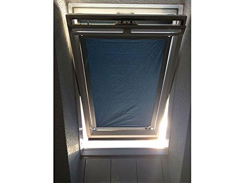 eXsun Sonnenschutz für Velux & Roto Dachfenster | Ohne Bohren mit Saugnäpfen *KraftHaftSauger Made in Germany!* | | Rollo Braas | Fakro | Verdunklungsrollo - Größe: Velux 310 | M10 = 60x135cm