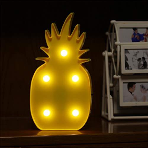 Z-HOMZYY mooie groene kerstboom feesttent LED nachtlampje batterij-aangedreven tafellampen voor kinderen baby kamer kinderen leuke slaapkamer lamp luminarias Yellow Pineapple