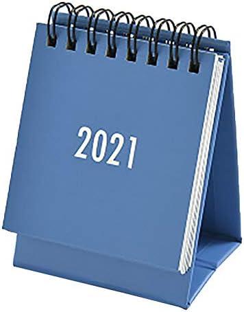 2021 Mini Desk Calendar Standing Flip Calendar Simple Solid Color Plan Book Mini Calendar Decoration product image