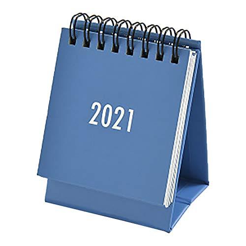 Koojawind Kalender 2021, Adventskalender Kleiner Tischkalender Einfache Plan Mini Kalenderdekoration, Niedliches Tischkalenderzubehör, Desktop Standing Flip Kalender für Home Office-Tabelle