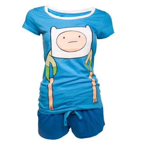 Adventure Time Pyjama Finn Vrouwen Shortama Multicolor