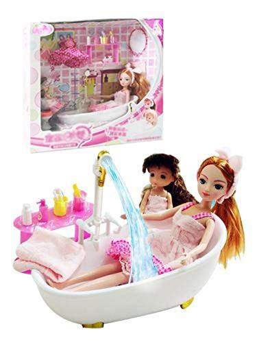 fervory Muñecas Bebé Muebles De Baño Y Juego De Muñecas Baño Juego De Muñecas para Niñas Niños