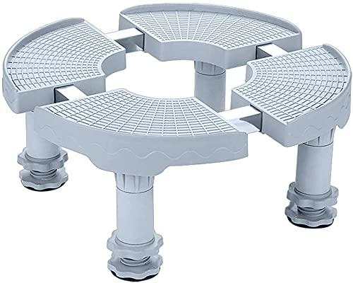 TabloKanvas Base per elettrodomestico cilindrica ovale aria condizionata Base staffa di sollevamento Pad mensola staffa regolabile (dimensioni : H18-21cm)