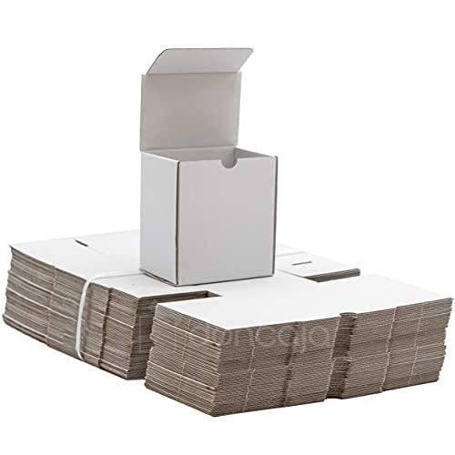 Confezione scatole 13,5 x 12,5 x 8 cm   Cartone bianco lucido   Ecommerce, imballaggio, imballaggio, imballaggio, confezioni regalo, spedizioni postali, confezione da 50