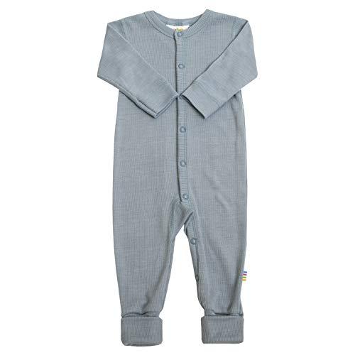 Joha Baby Mädchen Jungen Schlafstrampler Merino-Wolle/Seide, Größe:98/104, Farbe:Denim Blue