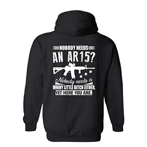 Nobody Needs an AR 15 Long Hoodie, Pullover Hooded...