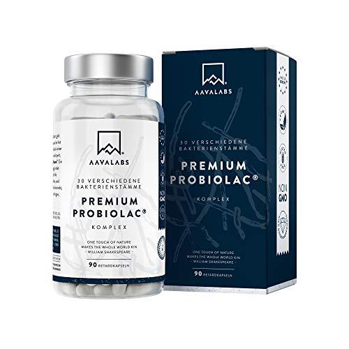 Premium Kulturen Komplex [120 Mrd KBE] je Tagesdosis - 30 Bakterienstämme (3x höher als andere Darmflora Kapseln) + Zink - 90 Kapseln (DRcaps®) - Darmbakterien Kapseln hochdosiert & Laborgeprüft