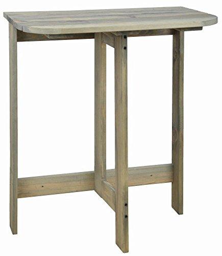 Esschert Design Tavolo Pieghevole da Parete Legno Grigio Tavolino Laterale