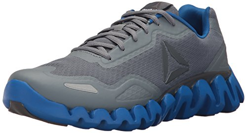 Reebok Men's Zigpulse Running Shoe, Asteroid dust/ash Grey/Awesome Blue/White, 7 M US