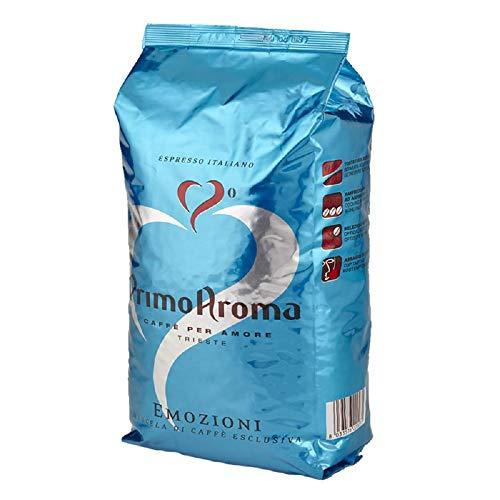 Primo Aroma Emozioni Blue, Kaffeebohnen 1000g Espresso Italiano │ Der kräftige und würzige Kaffee für Genießer kräftiger Espresso-Getränke
