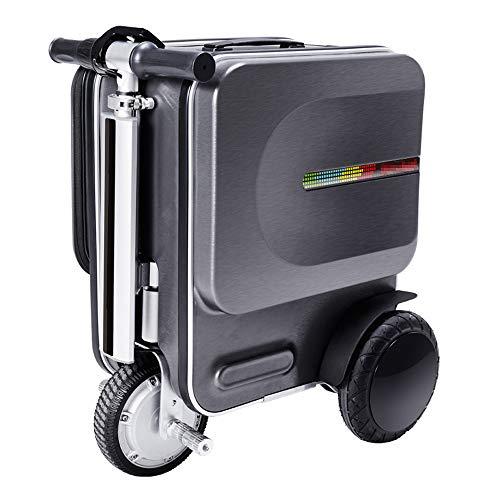 LYY Valigia elettrica da 20 Pollici, Astuccio Intelligente per Scooter da Guida, Asta portante telescopica Nascosta da 90 kg, Durata della Batteria 15-18 km,Darkgray