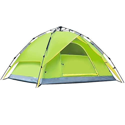 PN-Braes Tents3-4 Personas Doble Capas Impermeable Transpirable Tienda Automática Con Bolsa Para Al Aire Libre Y Senderismo Viajar (Tamaño: 210x210x150cm; Color: Verde Claro