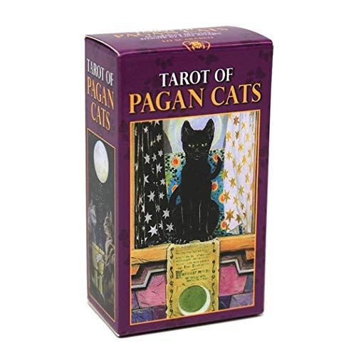 M STAR Carte dei tarocchi per Gatti Pagani, Tarot Deck-78 PC per Giochi da Tavolo da Tavolo da Tavolo Giochi, Carte da Gioco da Tavolo Adatto per Feste e Festival