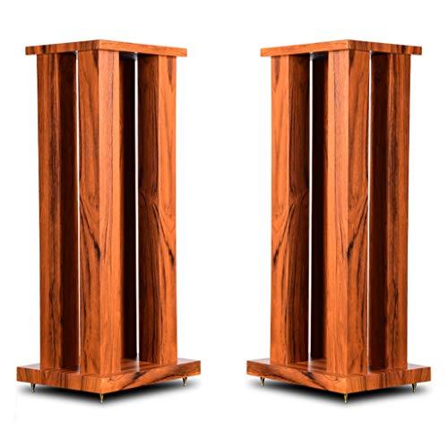 Möbel Lautsprecherständer Holz Lautsprecher Regal Stativ Home-Office-Mikrofon Große Musikszene Stehen (Color : Brown, Size : 27 * 21 * 60cm)