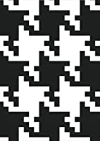 igsticker ポスター ウォールステッカー シール式ステッカー 飾り 841×1189㎜ A0 写真 フォト 壁 インテリア おしゃれ 剥がせる wall sticker poster 003884 チェック・ボーダー 千鳥柄 白 黒