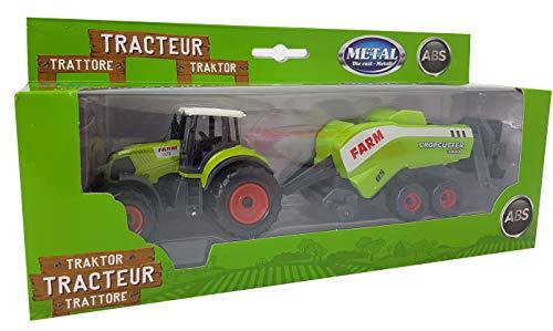 Spielzeug Traktor Claas Farm 950 mit Ballenpresse Cropcutter