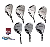 AGX Men's Tour XS Regular Flex Cadet (-1') Length; Complete Hybrid Game Improvement Stainless Steel Irons Set 3,4,5,6,7,8 & 9 Graphite Edition: Right Hand